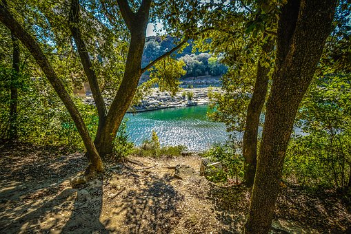 River, Shade, Colors, Provence, France, French, Path