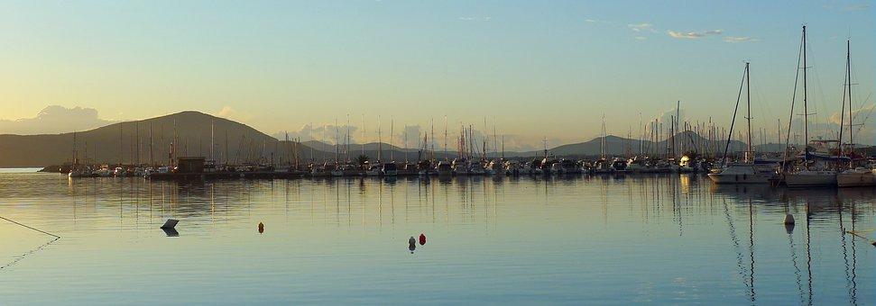 Alghero, Harbour, Sunset, Sardinia, Italy, Harbor, Boat