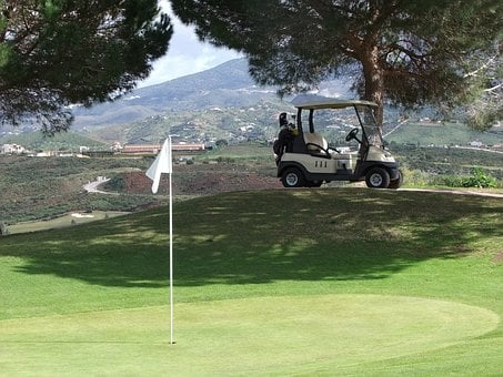 Golf, Spain, Golf Course, Buggy, Nature, Bugyna, Valley