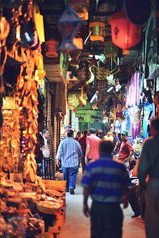Bazaar, Cairo, Egypt, Egyptian, Market, Arab, Tourism