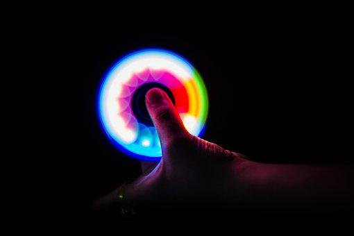 Hand Spinner, Lights, Light Painting, Light, Color