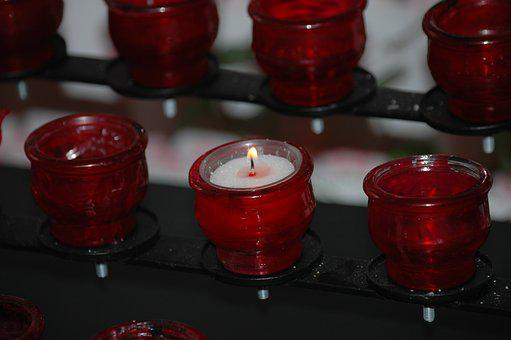 Candle, Commemorate, Mourning, Faith, Light