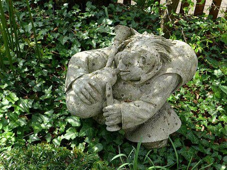 Garden Figurines, Decoration, Rock Carving, Gnome