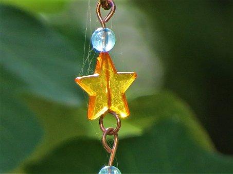 Decorative Chain, Outside, Yellow, Blue, Copper