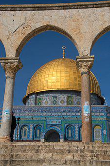 Israel, Dome Of The Rock, Jerusalem, Temple Mount, Dome