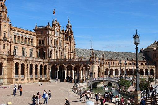 Spain, Spain Square, Espana, Sevilla, Plaza De Espana