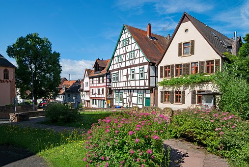 Old Town Gelnhausen, Hesse, Germany, Old Building