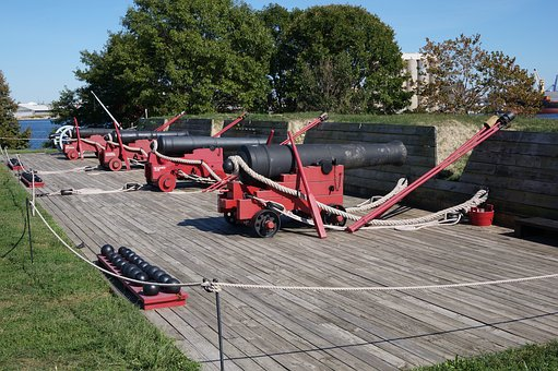Fort, Cannon, Battery, Old, History, Fortress, Park