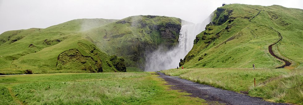 Skogarfoss, Iceland, Cascade, Waterfall, Water, Nature