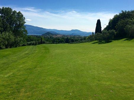 Lago Di Garda, Golf, Golf Course, Field, Nature