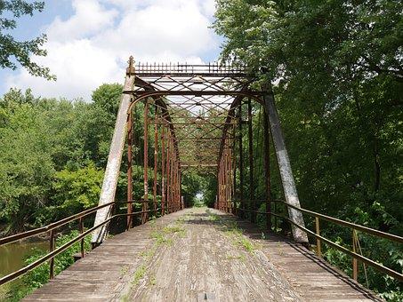 Old Bridge, Rural, Bridge, Old, Landscape, Wooden