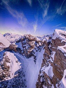 Mountain, Snow, Sky, Winter, Nature, Landscape