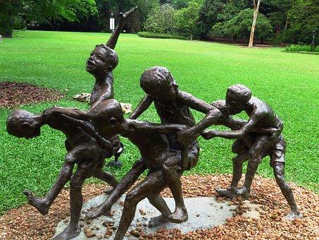 Idol, Children, Playing, Child, Childhood, Kid