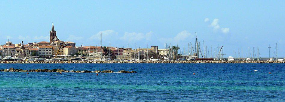 Alghero, Skyline, Seascape, Summer, Sardinia, Old Town
