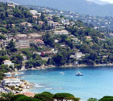 Sea, Le Lavandou, Provence, Holiday, France, South