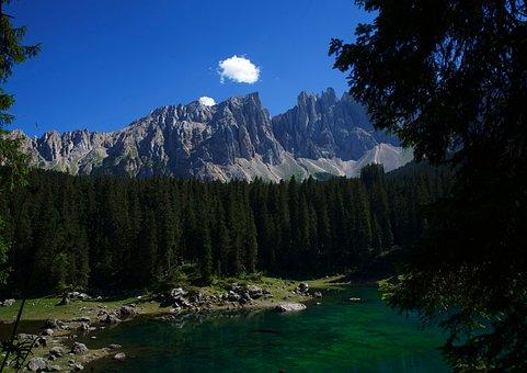 Mountain, Lake, Cloud, Sky, Landscape, Ride, Reflection