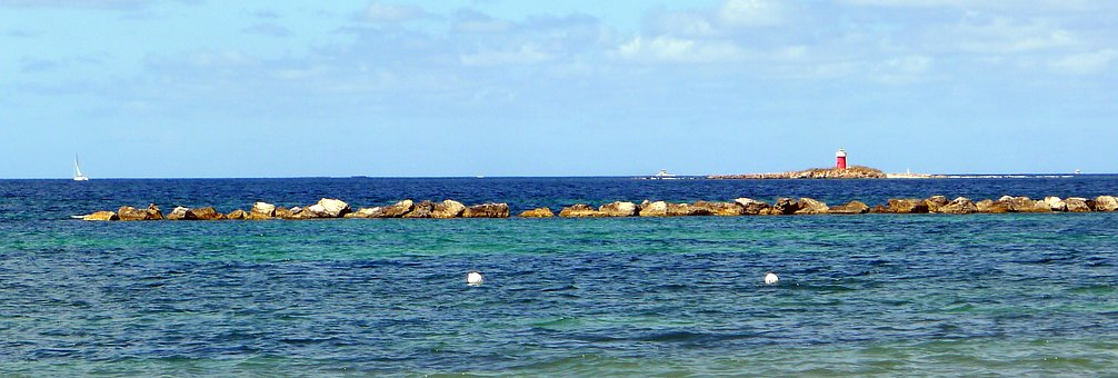Alghero, Sardinia, Sea, Lighthouse, Rocks, Summer