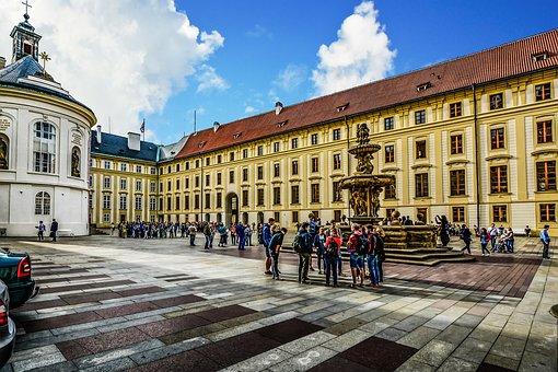 Prague, Castle, Bohemia, Students, Group, Travel, Tour