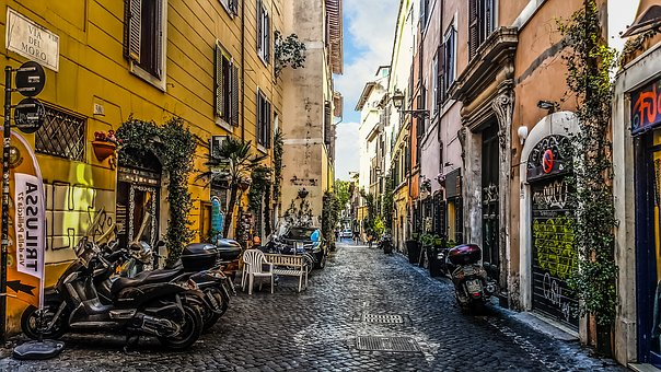 Rome, Trastevere, Travel, Journey, Urban, Roman, Italy