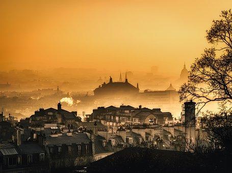 Paris, France, City, Urban, Buildings, Silhouettes