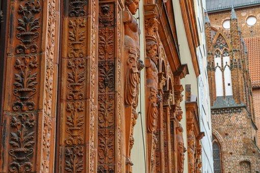 Wismar, Building, Facade, Old Town, Baltic Sea
