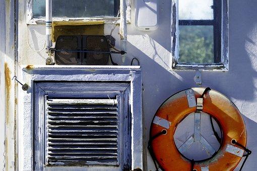 Fishing Boat, Cabin, Life Preserver, Fishing, Boat