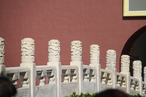 The Forbidden City In Beijing, City Gate, Bridge