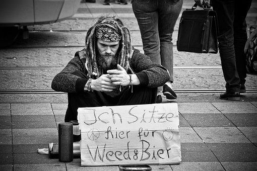 Man, Begging, Lack Of Money, Crisis, Deficiency