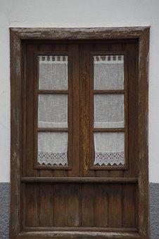 Window, Curtains, Old, Historically, Facade, Curtain