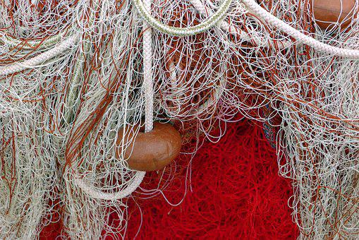 Fishing Net, Net, Red, Fishnet, Fishing-net