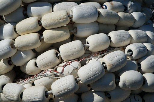 White, Net, Float, Fishing, Marine, Nautical