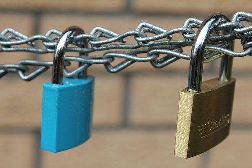 Padlock, Secure, Chain, Metal, Lock, Steel, Protect