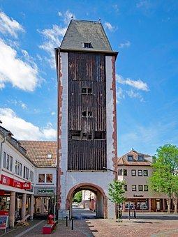 Wooden Gate, Gelnhausen, Hesse, Germany, Old Building