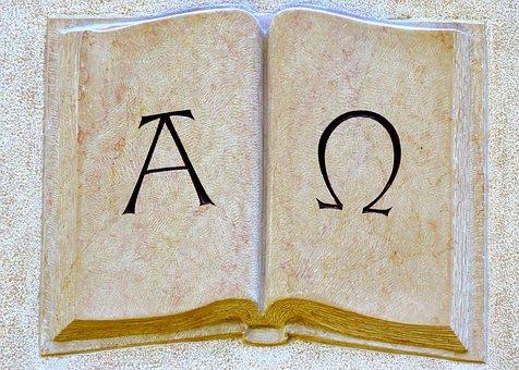 Alpha, Omega, Symbols, At The Beginning, End, Church