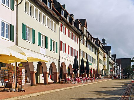 Freudenstadt, Historic Market Square, Row Of Houses