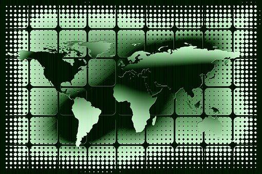 Matrix, Earth, Global, International, Space, Silhouette