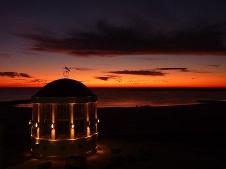 Borkum, Music Pavilion, Abendstimmung, Sunset