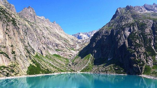 Bergsee, Mountains, Landscape, Switzerland, Alpine
