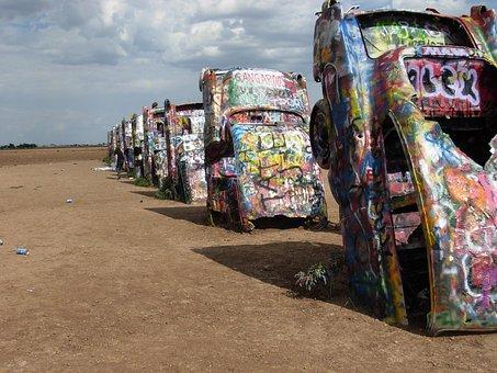 Cadillac Ranch, Cadillac, Amarillo, Texas, Graffiti