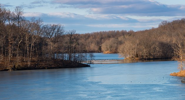 Tranquil, Peaceful, Frozen, Water, Nature, Calm