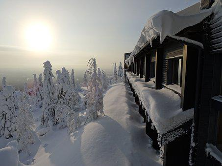 Lapland, Syöte, Roma Table, Winter, Snow, Landscape