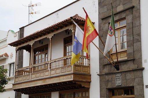 Wood Balcony, Town Hall, Tenerife, Canary Islands