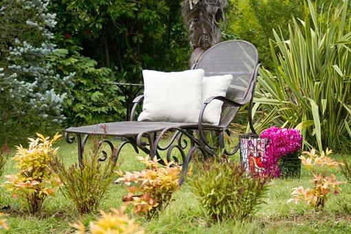 Sunbeds, Pillow, Garden, Souvenir, Background