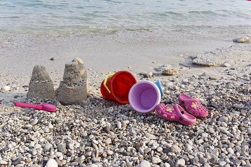 Bucket, Beach, Vacation, Toys