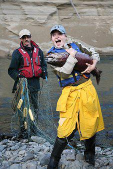 Fishing, Catch, Chinook Salmon, Joy, Emotions, Fish