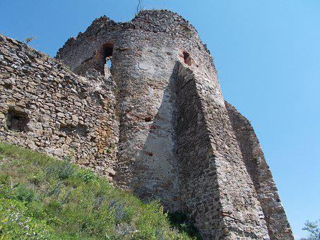 Castle, Trip, Slovakia, Country, Tree, Ruins, Tourism