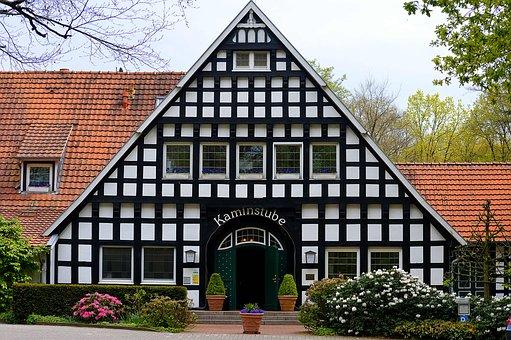 Restaurant, Fireplace Tube, Fachwerkhaus, Delicious