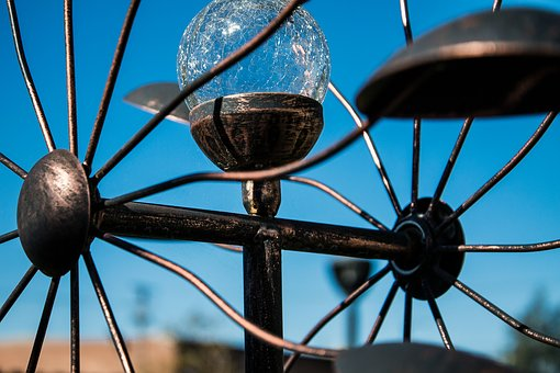 Wheel, Sky, Blue, Wind, Chime, Garden, Measure, Ferris