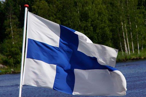 Flag Of Finland, Blue Cross Flag, Finnish, Flies