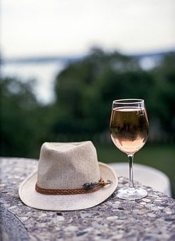 Hat, Wine, Rose, Still Life, Food, Drink, Bottle, Glass